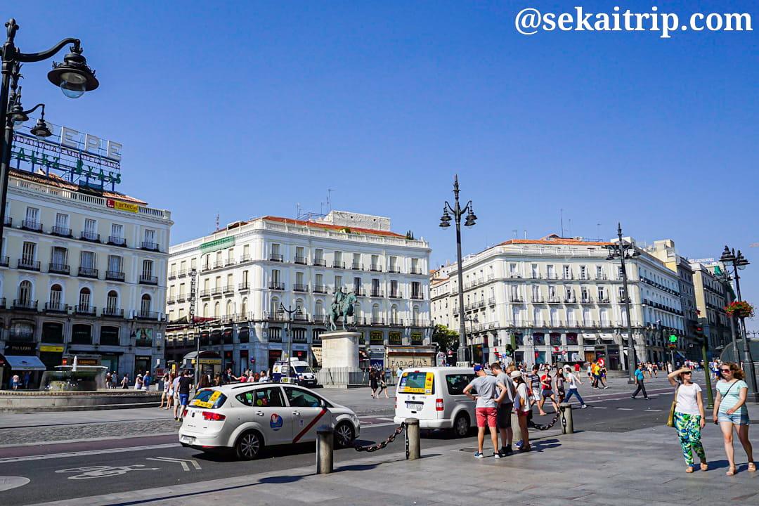 マドリードのプエルタ・デル・ソル広場