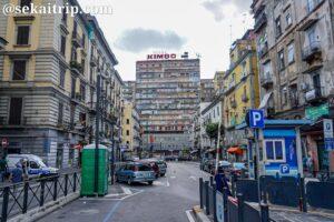 ナポリ中央駅前のマンチーニ広場(Piazza Mancini)周辺