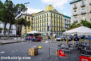 ナポリのプリンシペ・ウンベルト広場周辺