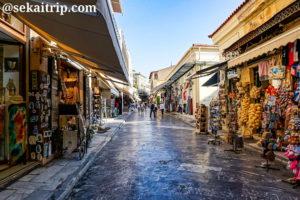 ギリシャ・アテネのアドリアヌ通り