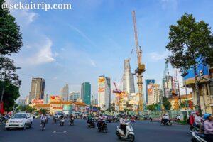 ベトナム・ホーチミンのサイゴン・バス・ステーション付近の景色