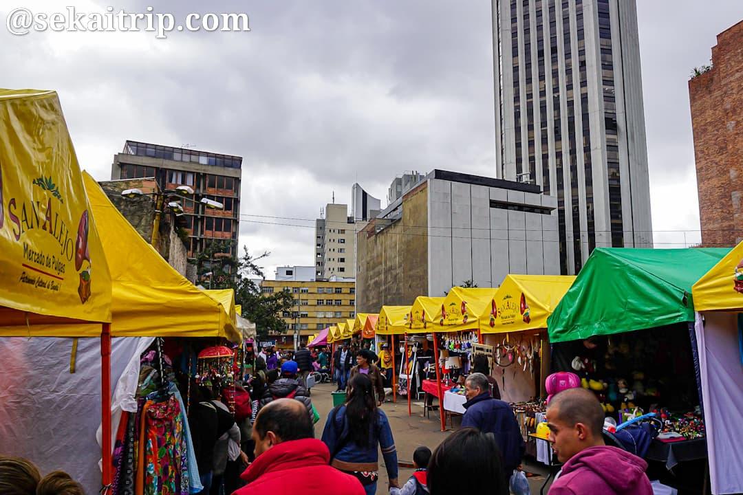コロンビア・ボゴタのサン・アレホのフリーマーケット(Mercado De Las Pulgas De San Alejo)