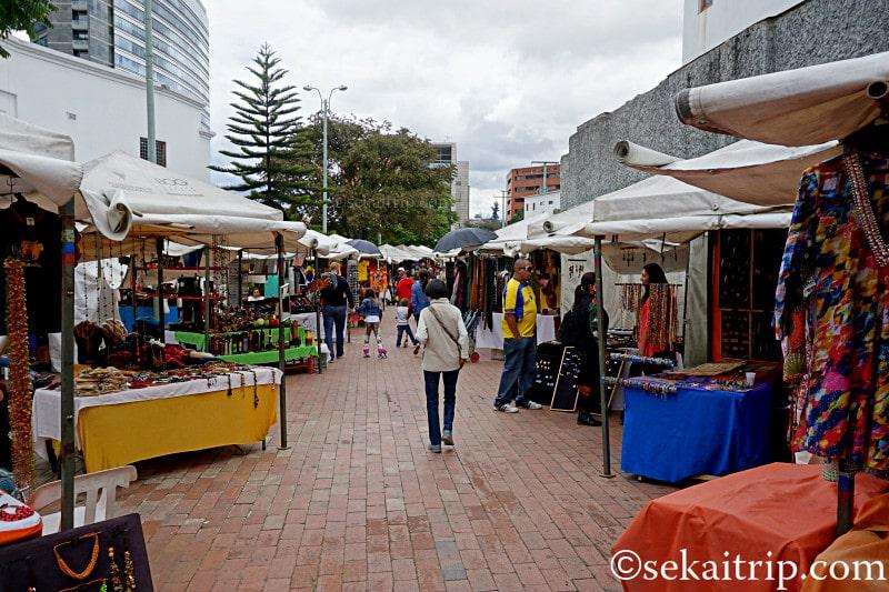 コロンビア・ボゴタのウサケンのフリーマーケット(Mercado de las Pulgas)