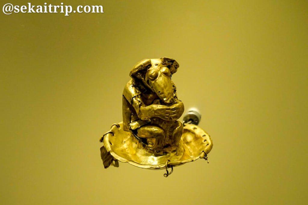 ボゴタの黄金博物館の展示物