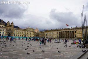 コロンビア・ボゴタのボリーバル広場(Plaza de Bolívar)
