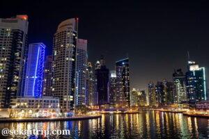 ドバイマリーナ(Dubai Marina)の夜景