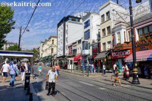 イスタンブールのスルタンアフメット(Sultanahmet)駅周辺の景色
