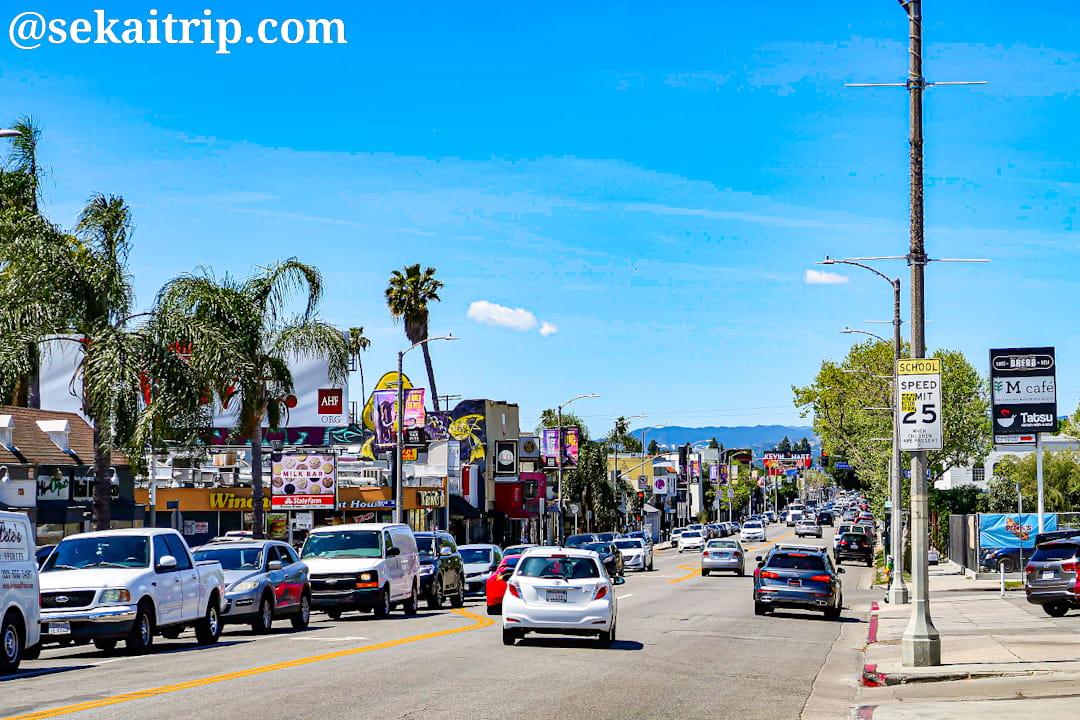 ロサンゼルスのメルローズ・アベニュー(Melrose Avenue)