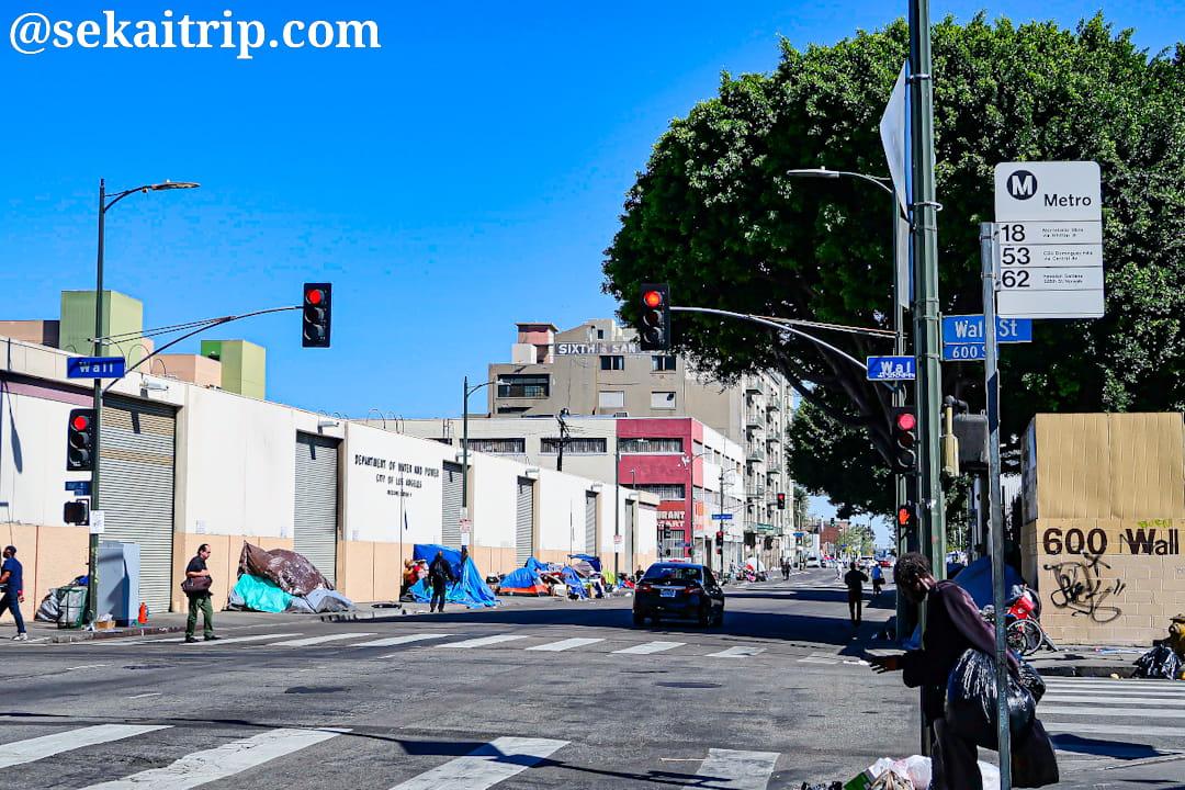 ロサンゼルスのスキッド・ロウ(Skid Row)