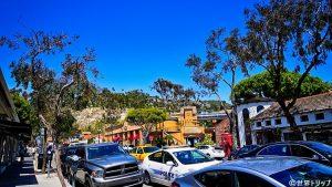 ロサンゼルス近郊のラグナビーチの街並み
