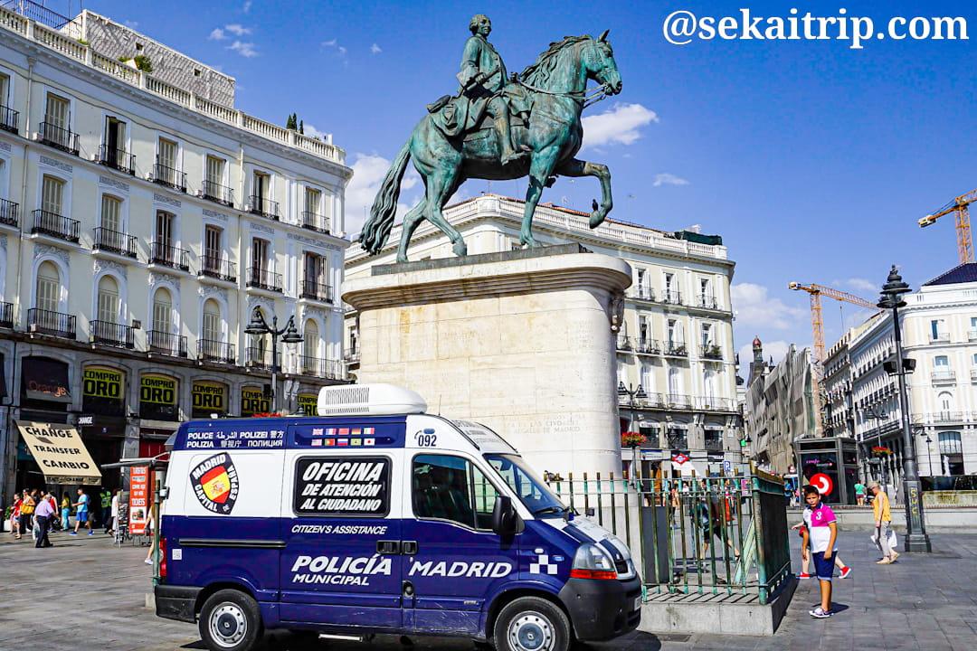 マドリードの警察車両