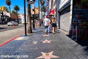 ロサンゼルス・ハリウッド(ワックス・ミュージアム周辺)