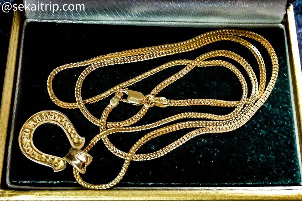 ドバイ・ゴールドスークで購入した22金のネックレス