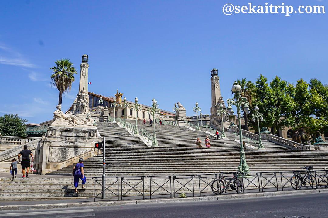 マルセイユのサン・シャルル駅(Gare de Marseille Saint Charles)