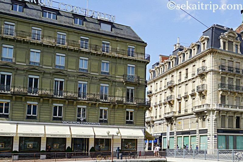 ジュネーブにあるヴァシュロン・コンスタンタン本店(Vacheron Constantin SA)