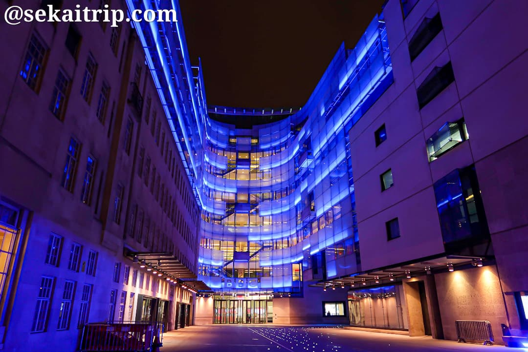ロンドンのBBC本社(BBC Broadcasting House)