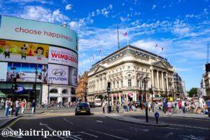 ロンドンのピカデリー・サーカス(Piccadilly Circus)