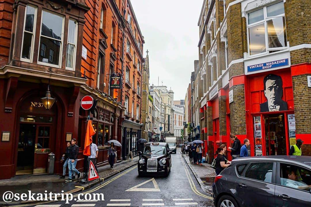 ロンドンのソーホー(SOHO)