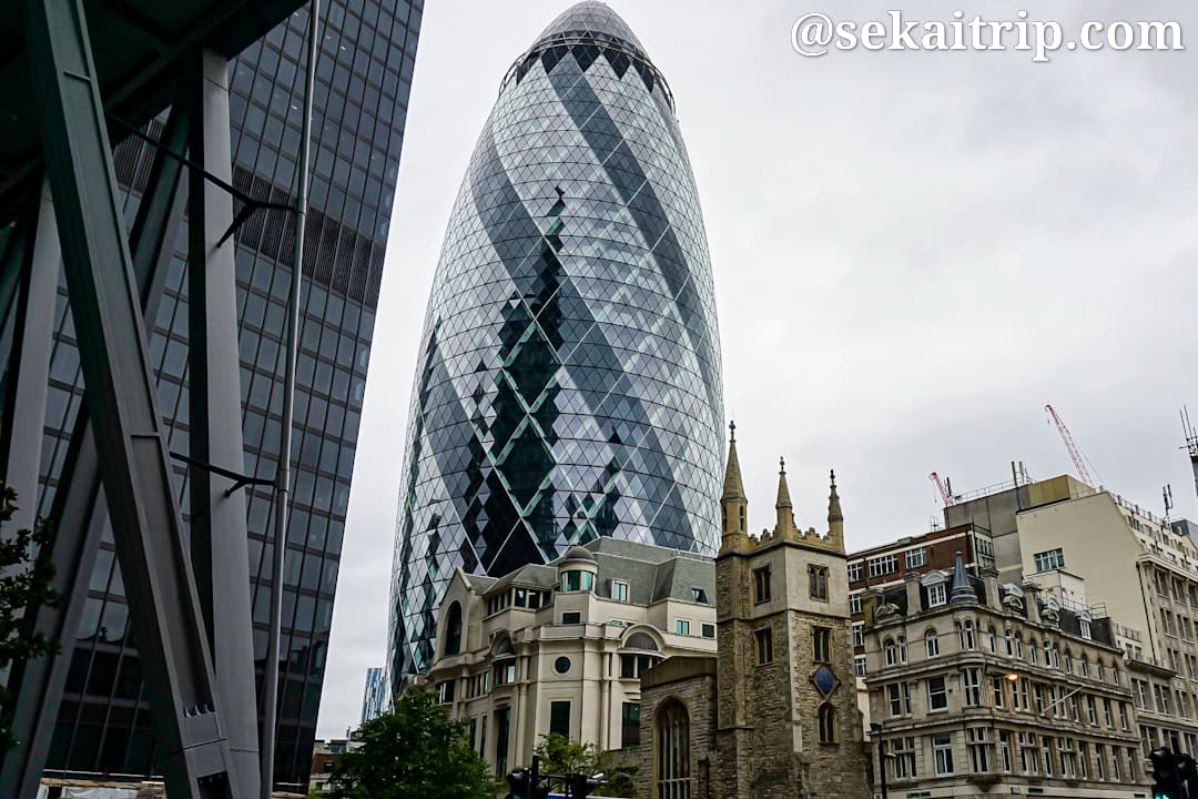 ロンドンの30 St Mary Axe (The Gherkin)