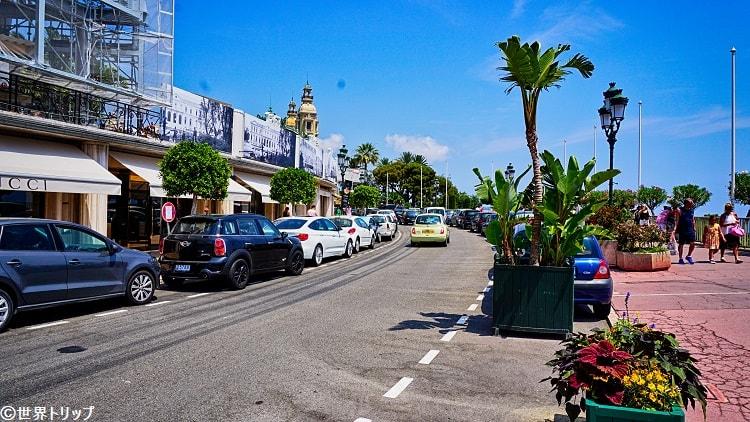 モナコのモンテカルロ通り(Avenue de Monte-Carlo)