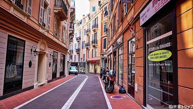 モナコのチュルビ通り(Rue de la Turbie)