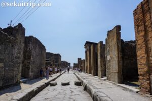 ナポリ近郊にあるポンペイ遺跡(Scavi di Pompei)