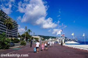 ニースのプロムナード・デ・ザングレ(Promenade des Anglais)