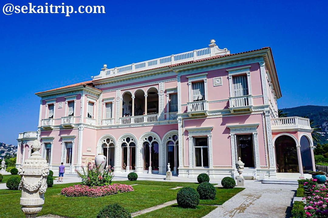 ニース近郊のロスチャイルド邸(Villa & Jardins Ephrussi de Rothschild)