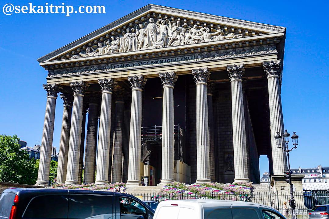 パリのマドレーヌ寺院(église de la Madeleine)
