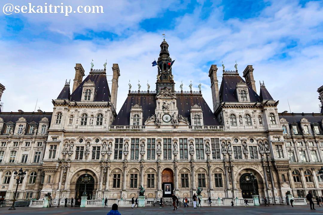 パリのパリ市庁舎(Hôtel de Ville)