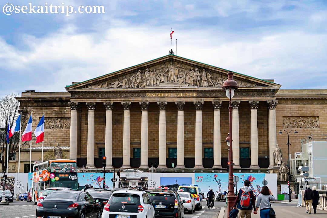 パリのフランスの国民議会議事堂(Palais Bourbon)