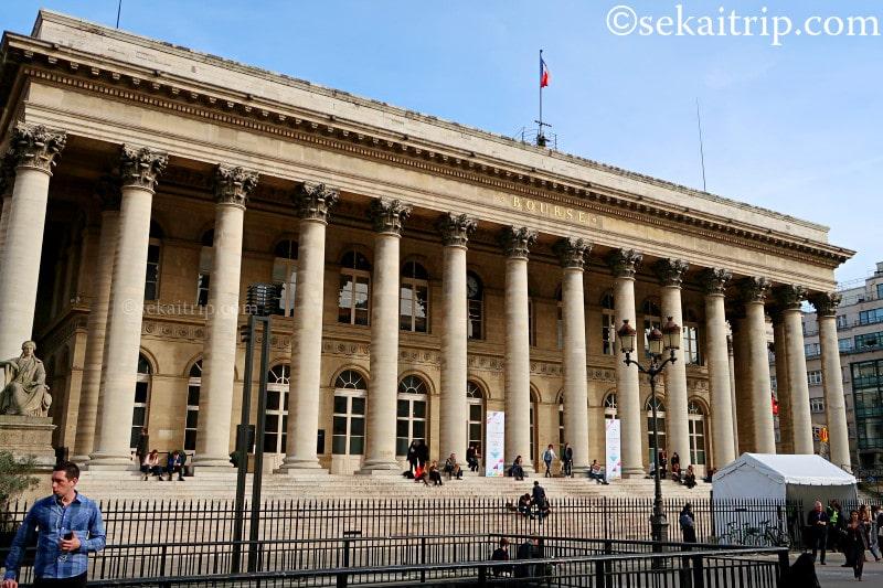パリのパリ証券取引所(Palais Brongniart)