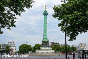 パリのバルティーユ広場(Place de la Bastille)