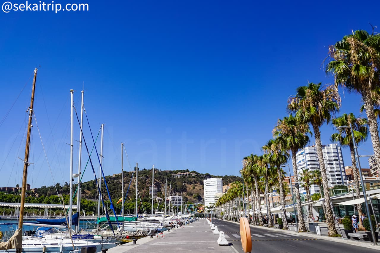 スペイン・マラガのマラガ港(Puerto de Malaga)