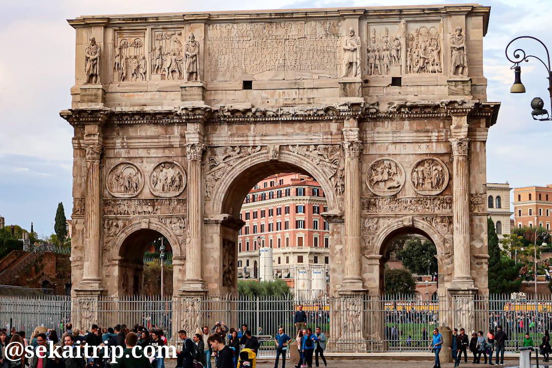 ローマのコンスタンティヌスの凱旋門(Arco di Costantino)