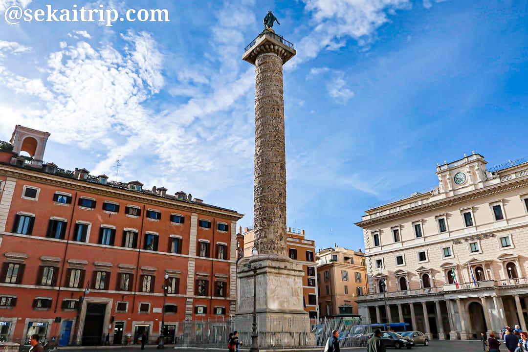 ローマのマルクス・アウレリウスの記念柱(Colonna di Marco Aurelio)