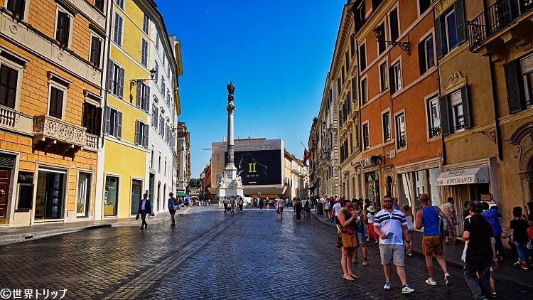 ローマのヴァレンティノ(VALENTINO)本店周辺
