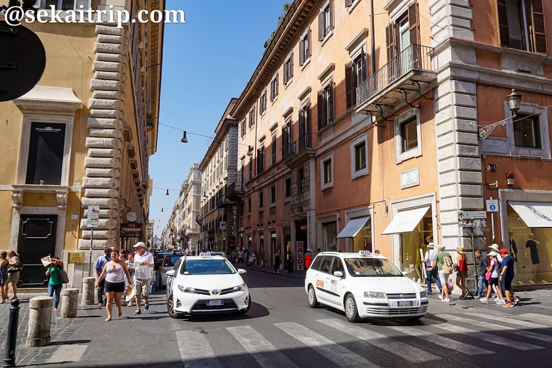 ローマのコルソ通り(Via del Corso)