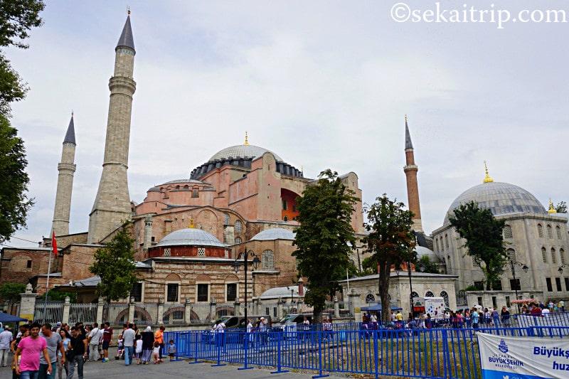 トルコ・イスタンブールのアヤソフィア(Ayasofya Müzesi)