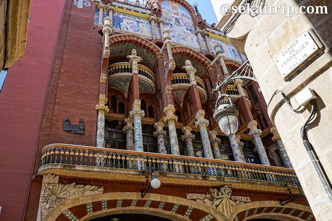 スペイン・バルセロナのカタルーニャ音楽堂(Palau de la Musica Catalana)