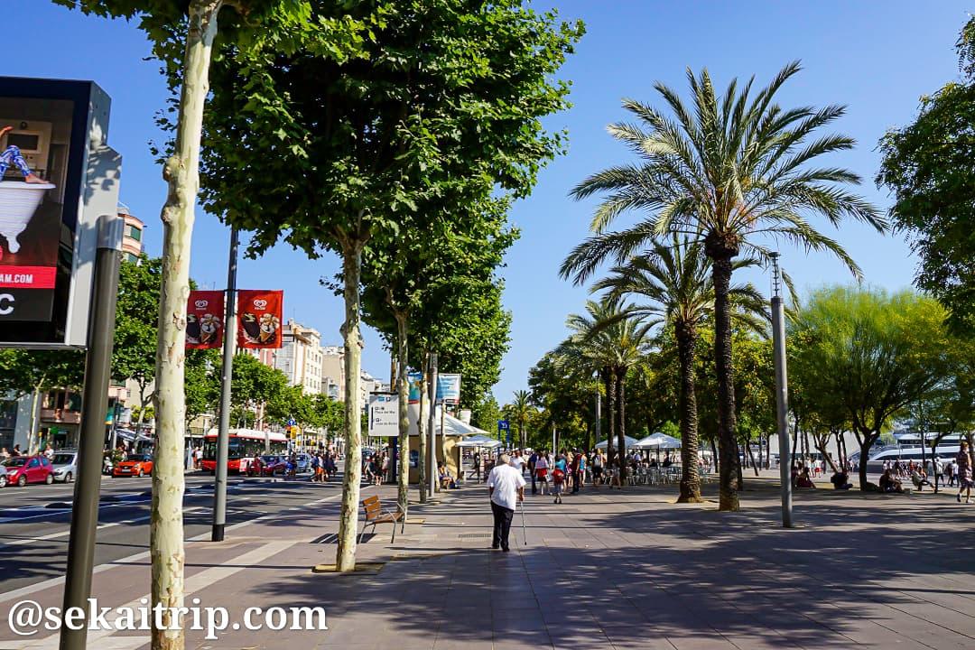 バルセロナのPasseig de Joan de Borbo