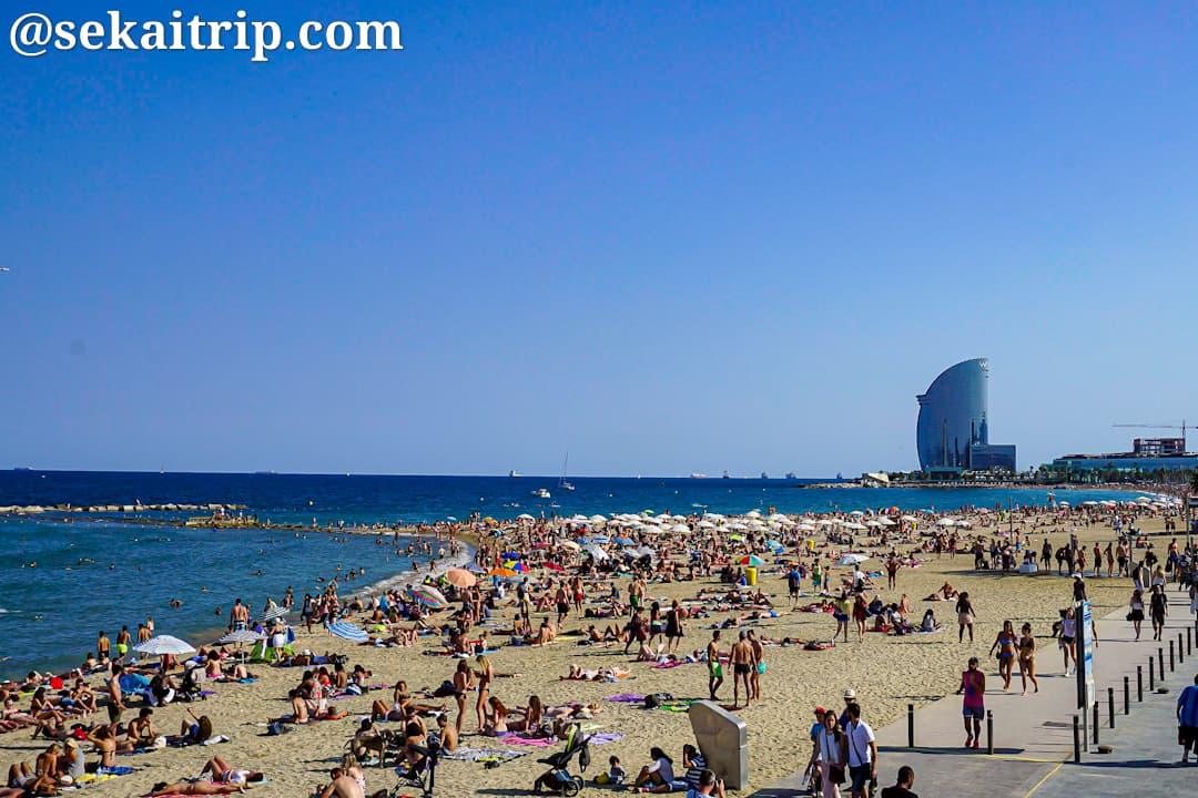 バルセロナのバルセロネータ海岸(Platja de la Barceloneta)