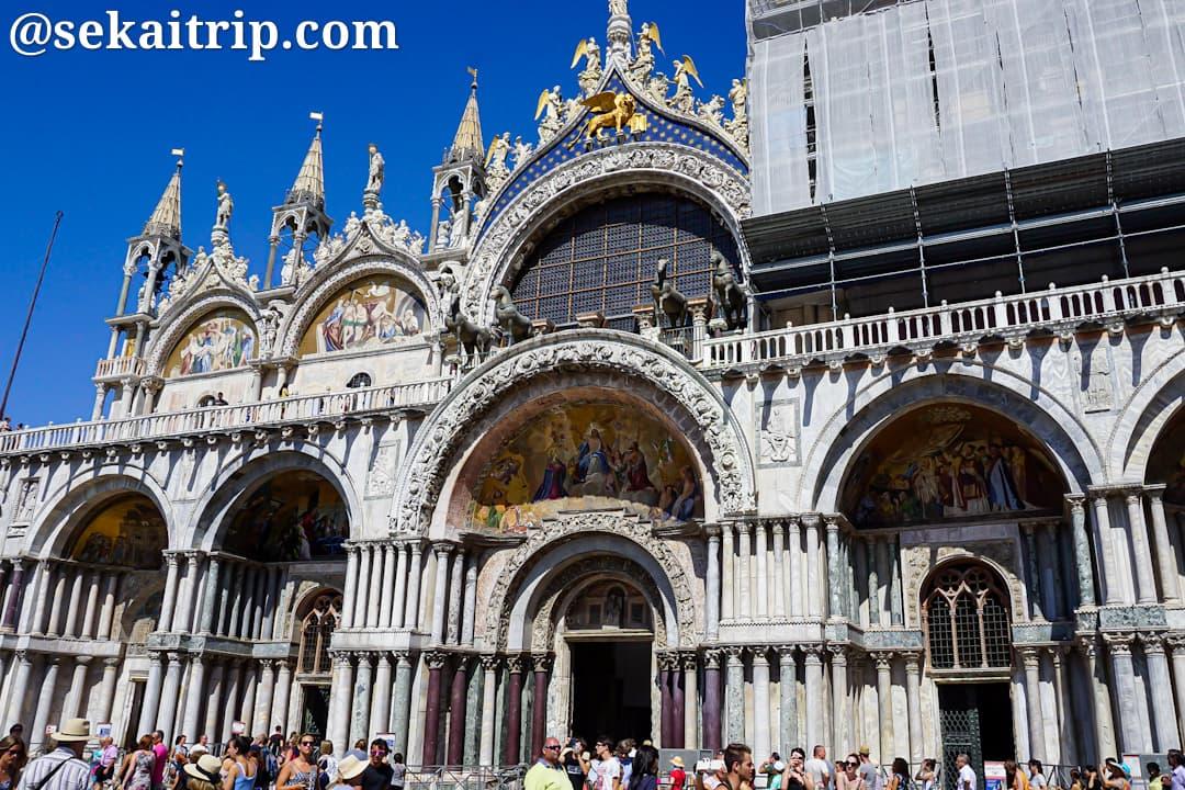 イタリア・ベネチアのサン・マルコ寺院(Basilica di San Marco)