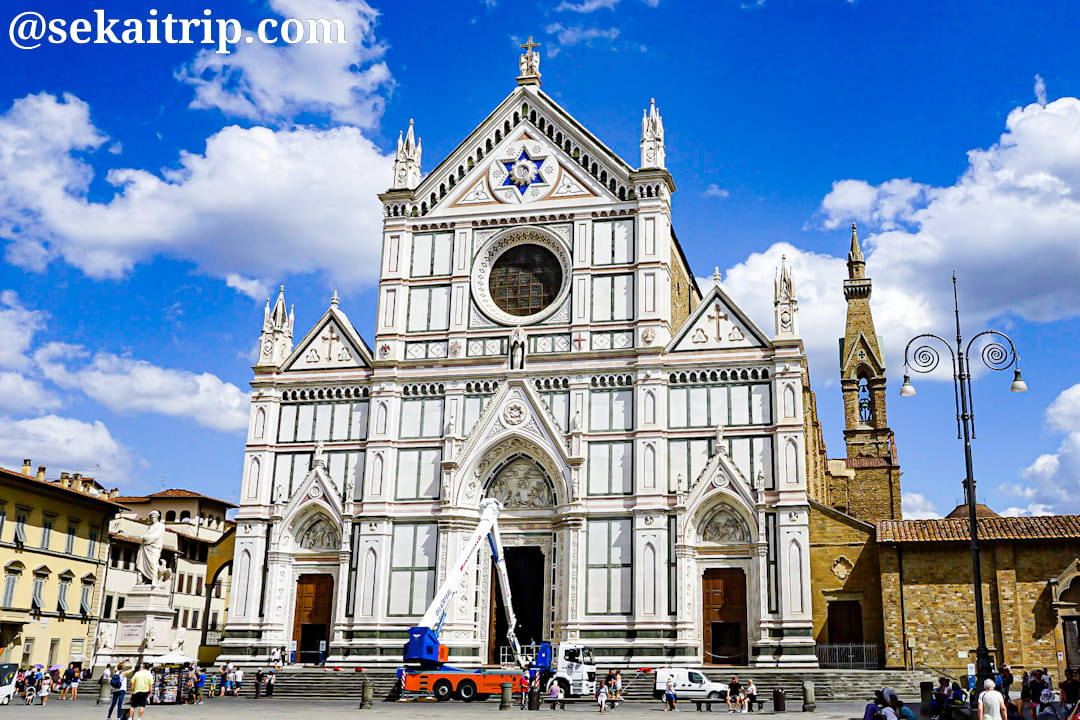 イタリア・フィレンツェのサンタ・クローチェ教会(Basilica di Santa Croce di Firenze)