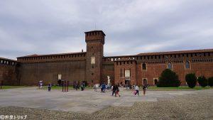 イタリア・ミラノのスフォルツェスコ城(Castello Sforzesco)
