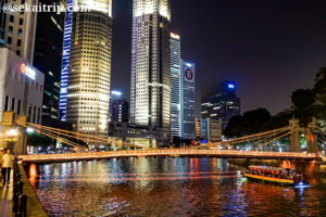 シンガポールのカベナ橋(Cavenagh Bridge)