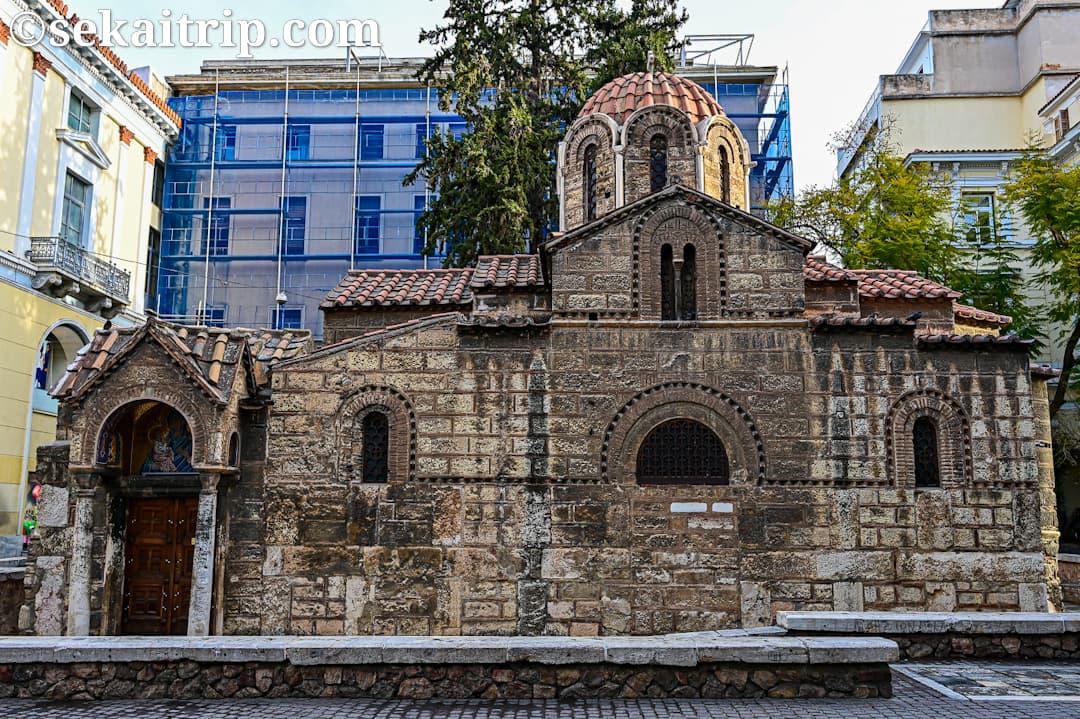 ギリシャ・アテネのパナギア・カプニカレア教会(Church of Panaghia Kapnikarea)