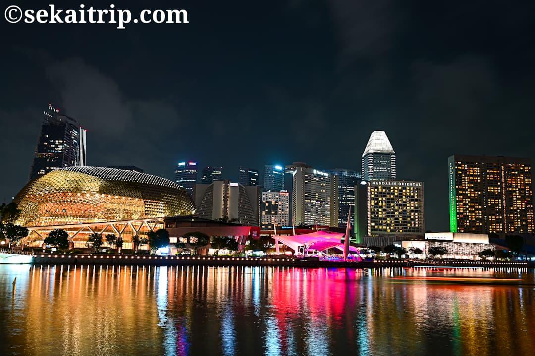 シンガポールのシティ側の夜景