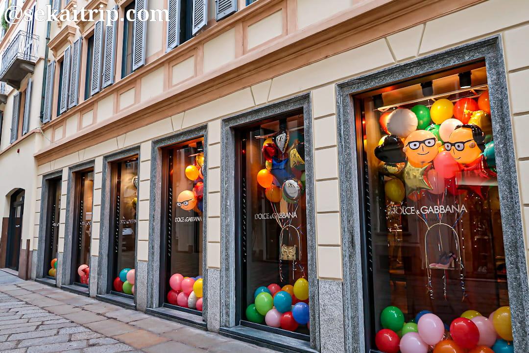 ミラノのドルチェ&ガッバーナ(Dolce&Gabbana)本店