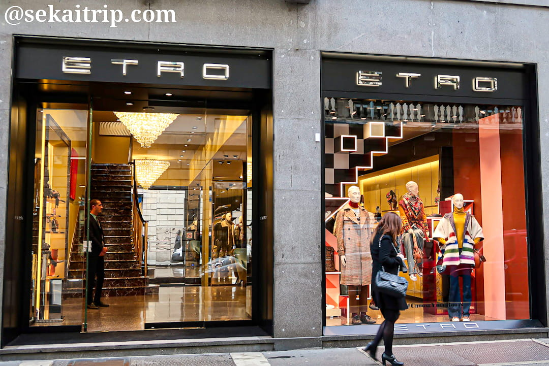 ミラノのエトロ(ETRO)本店